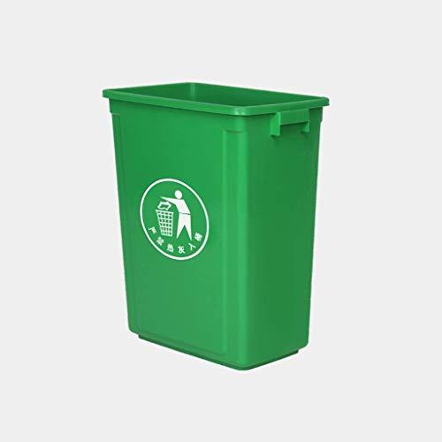 Khmyi vuilnisbak voor buiten, groot, rechthoekig, prullenbak/milieuvriendelijk PP materiaal zonder deksel waterdicht 60 l