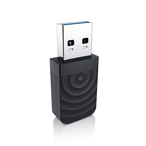 CSL - USB 3.2 WLAN Adapter 1300 MBit/s - 2,4Ghz + 5Ghz - Dual Band - 5 dBi Antenne - Mini WiFi Stick 1300 MBit/s - Wireless LAN - USB 3.2 Gen.1 Netzwerk Dongle - Für PC Desktop Laptop - Windows 10