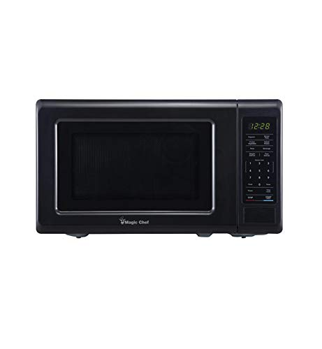 Magic Chef 0.7 cu. ft. Countertop Microwave (Black with Gray Cavity)