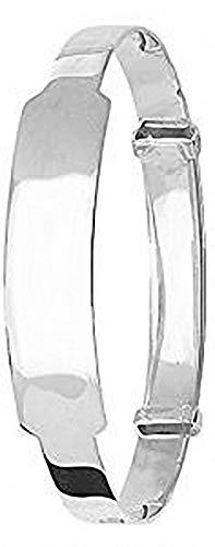 Baby Bangle Identity Sterling Silver Expandable Bracelet Christening Gift