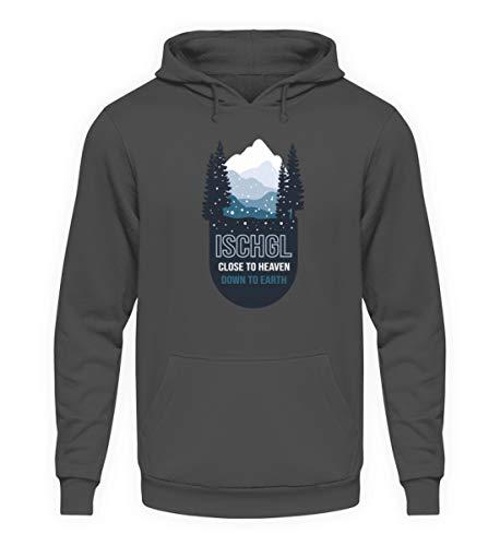 generisch Ischgl Apres Ski Snowboard Skibekleidung Berge Schnee Skiurlaub Apres SkiGeschenk - Unisex Kapuzenpullover Hoodie -XXL-Stahlgrau