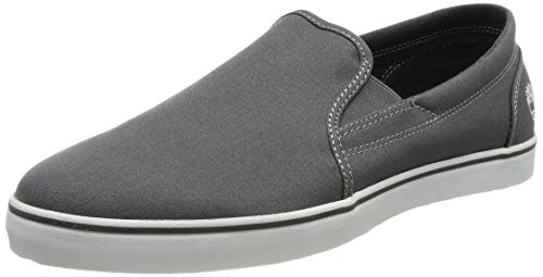 Timberland Skape Park Slip-On, Sneakers Basse Uomo, Gris Grey Canvas, 41.5 EU