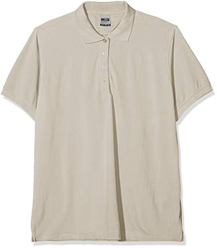 James & Nicholson Damen Ladies' Workwear Polo Poloshirt, Grau (Stone), 46 (Herstellergröße: 4XL)