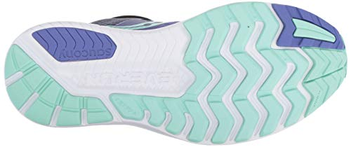 Saucony Women's Ride Iso Training Shoes, Purple (Violet/ Black/ Aqua 035), 3 UK (35.5 EU)