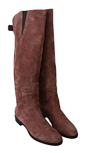 Dolce & Gabbana Beige Leather Suede Knee Shoes Boots Size 8.5 US