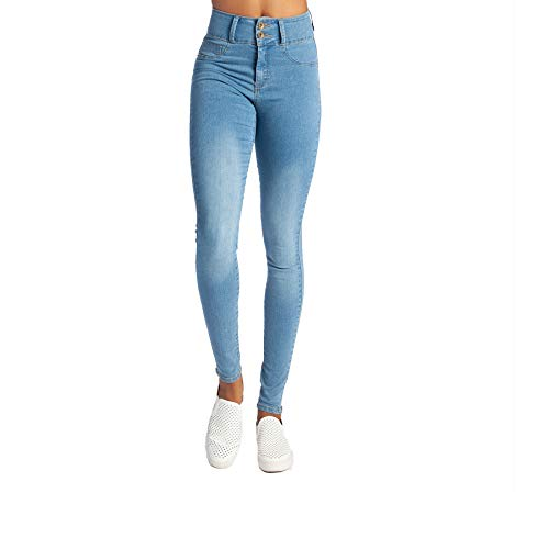 My Fit Jeans- Size 14-20 Light Wash: Women's Stretch Denim Jeans with Pockets and The Comfort of Leggings, Petite Through Plus Size