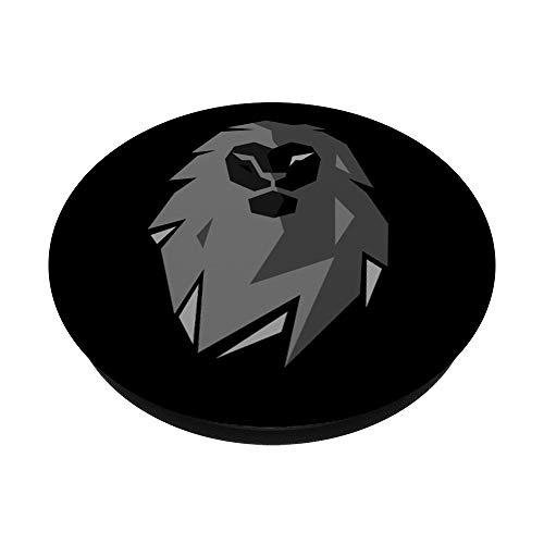 Löwe Liebhaber Sternzeichen Geschenk Löwenkopf Raubtier Leo PopSockets mit austauschbarem PopGrip