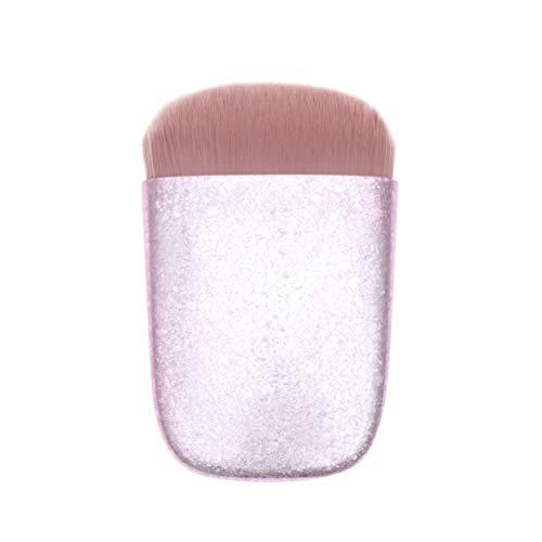 Beaupretty Pinceau de Maquillage en Poudre Plate Poignée en Plastique Cosmétiques Blush Glitter Brosse D'application sans Faille pour Femme Hommes Utilisation Quotidienne Rose