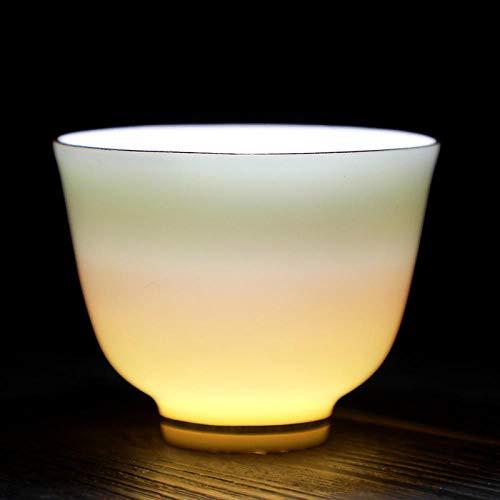 Weißes Porzellan Teeservice Teetasse reines Weißgold Teetasse Teeschale Keramik einzelne Tasse Werbegeschenk benutzerdefiniertes Logo-Umriss in Gold