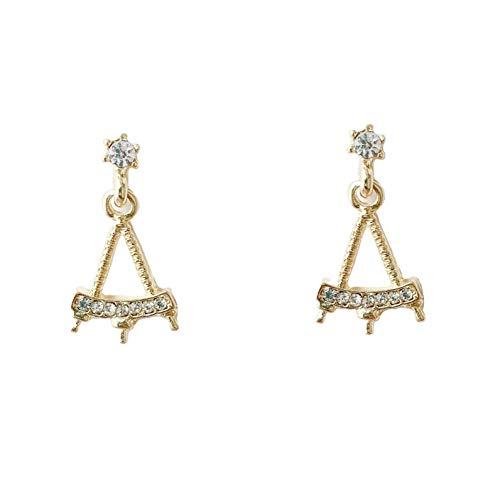 Pendientes triangulares huecos de la Torre Eiffel de plata 925 pendientes simples femeninos pendientes