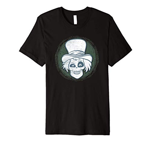Spooky Steam Punk Ghost Scary Zombie Top Hat Halloween Premium T-Shirt