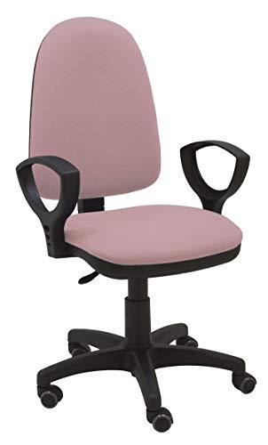 La Silla de Claudia - Silla escritorio y oficina Torino color Rosa Palo. Silla oficina ergonómica con reposabrazos. Asiento y respaldo regulables. Ruedas de Goma.