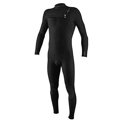 O'NEILL Hyperfreak 4/3Mm Chest Zip Full Wetsuit, Black/Black, X-Small