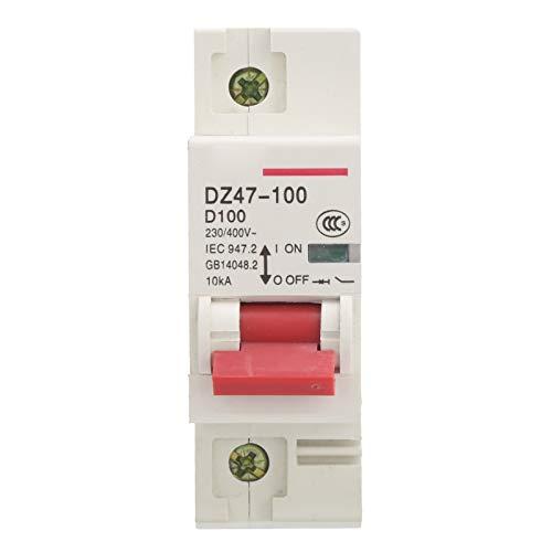 DZ47-100 1P D80-100A 230-400V Protección contra fugas Disyuntor en miniatura 10KA Disyuntor enchufable para interruptor de aire doméstico e industrial