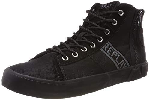 Replay Herren Room - Dock Hohe Sneaker, Schwarz (Black 3), 44 EU