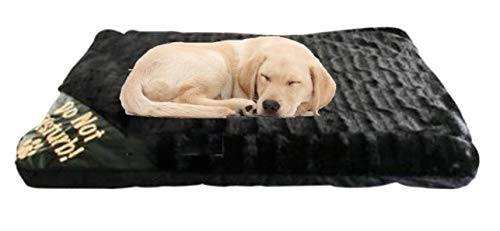 ADEPTNA Large Luxury Dog Cat Pet Fur Bed Mattress Washable Zipped Mattress Cover Soft Warm Bed – Size 80cm X 58cm
