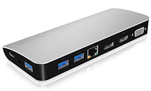 ICY BOX USB-C docking station USB-C Dock IB-DK2303-C zilver/zwart