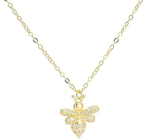 huangxuanchen co.,ltd Necklace Silver Color Necklace for Women Bees Clavicle Chain Necklace