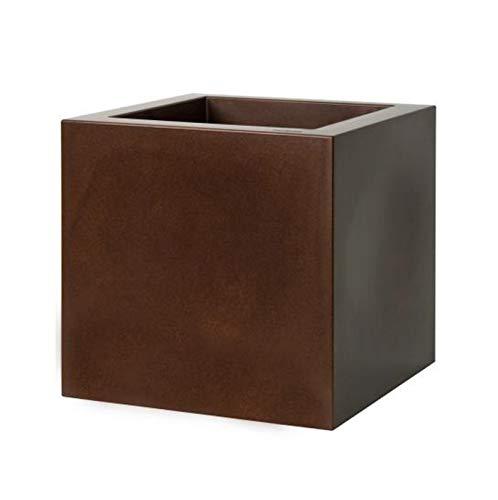 Euro3Plast Pot kube Gloss Blanc 40 cm