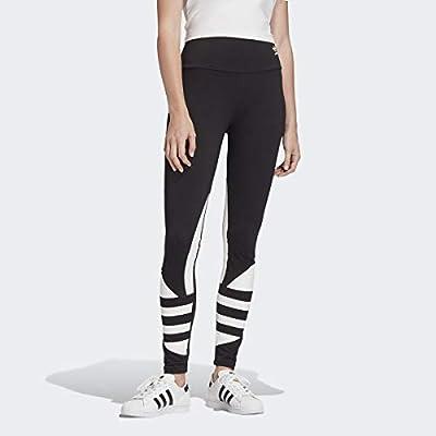 adidas Originals Women's Large Logo Tights, Black/White, M
