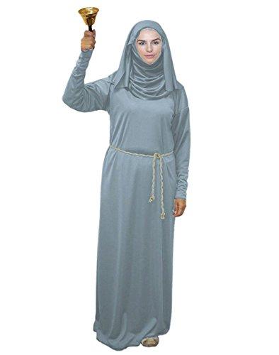 Disfraz de gorrin gris claro para adultos Septa de la fe de las siete monjas batas [S/M]
