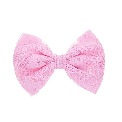 Covermason Pince à cheveux noeud pour enfants papillon (rose)