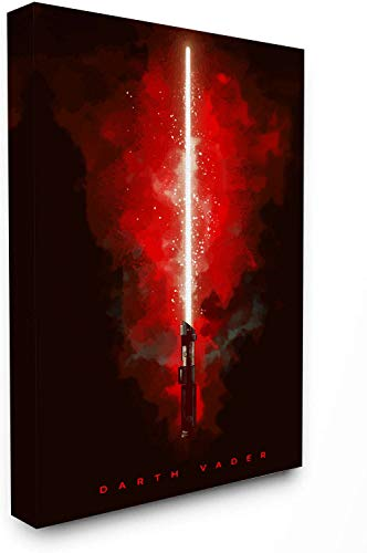 Star Wars Lightsaber Canvas Prints 12' x 20' Framed Wall Art Darth Vader Canvas Prints for Living Room Bedroom Walls Office Art, Stretched and Ready to Hang