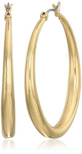 Anne Klein Women's Gold Medium Tapered Hoop Earrings, Gold