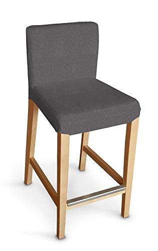 Dekoria Henriksdal Husse für Barhocker Husse Stuhlbezug,Stuhlkissen passend für IKEA Modell Henriksdal dunkelgrau