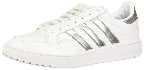 adidas Team Court W, Scarpe da Ginnastica Donna, Ftwr White/Silver Met./Ftwr White, 38 2/3 EU