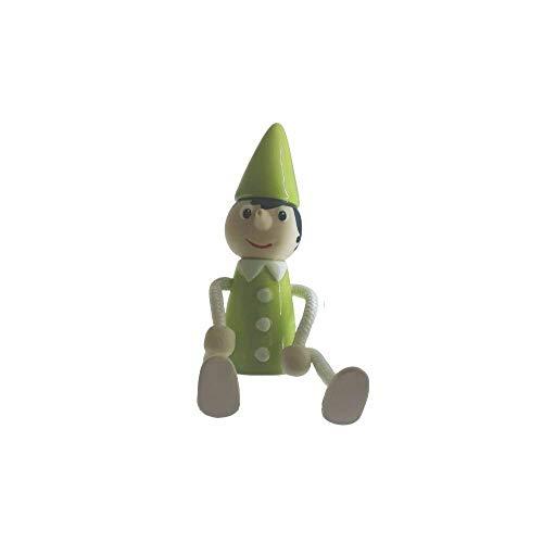 Spago di Terra Pinocchio vert H 18 x 6 cm en céramique Made in Italy de collection