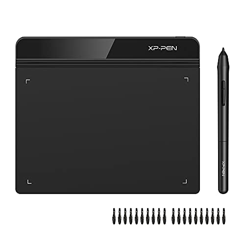 XP-PEN G640 Tableta Gráfica de Dibujo 6 x 4 Pulgadas para Juego OSU, Tableta Digital con Lápiz sin Batería Compatible con Windows 10/8/7, Mac 10.10 y Superior y Chrome OS