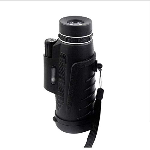 YUQIYU Monocular, Zoom telescopio monocular, Totalmente versátil Recubierto de teléfono Clip Vidrio óptico de la Lente + trípode +