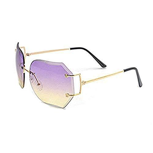 mincl/caliente gran tamaño sin montura gafas de sol mujeres gafas de lente transparente