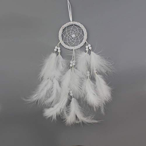 Koyomcd Home Decoration White Dream Catcher, Handmade Feather Sweet Dream Net, Children'S Bedroom Living Room Wall Decoration White Dream Network