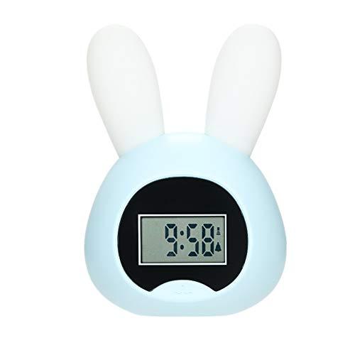 KUOZEN despertadores Despertador fornite Despertadores Digitales cabecera Reloj de Alarma Inteligente Luz de Alarma Reloj Los niños Reloj de Alarma Blue 2