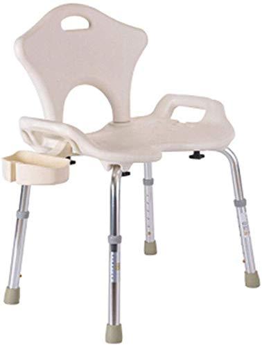 WYJW Badkruk, verdikking, stoel van aluminiumlegering, douchekruk voor ouderen, badkamerstoel, kruk voor zwangerschap, met doos