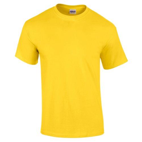 Gildan - Camiseta básica de manga corta Modelo Ultra Cotton para hombre caballero (Extra Grande (XL)/Amarillo margarita)