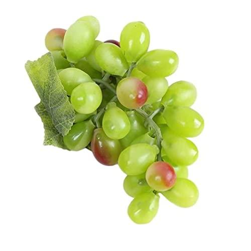 CAETNY Artificial Fruit 1 cacho de UVA Falsa Plástico Artificial Faux Fruit Decoração de jardim doméstico (Cor: Verde)