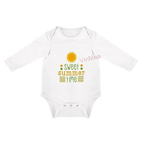 VinMea Enterizo de bebé dulce verano () Body divertido recién nacido en 5 tamaños L
