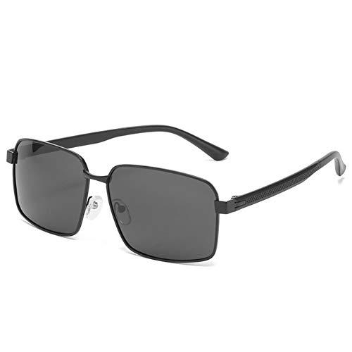 DovSnnx Unisex Clásico Polarizado Lentes Gafas de sol UV400 Protección Vintage Moda Gafas para hombres y mujeres Negro marco todas las lentes grises