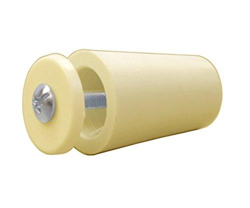 SYSFIX 2320105 – aanslagstop voor rolluiken TP 35 in doos 12 stuks met schroef en sluitring, ivoorkleurig