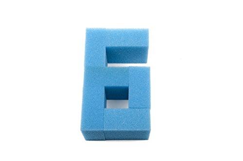HuaxinYicheng LTWHOME Filtereinsätze für Aquarien aus feinem Schaumstoff, passend für Juwel Compact/BioFlow 3.0 Filter/M (6 Stück)