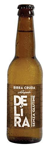 Birra Artigianale Cruda Italiana DELìRA - Pale Ale Senza Glutine - Confezione da 12 Bottiglie 33cl...
