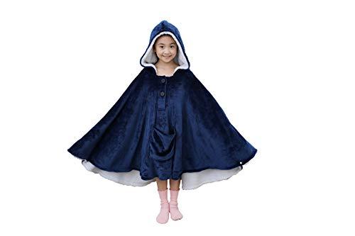 Westkun Kinder Decke Hoodie Übergroße Sweatshirt mit Fleece & Sherpa Giant Plüsch Pullover Decke Weiche Warme Riesen Pulli mit Kapuze Fronttasche für Mädchen und Jungen Eine Grösse Passt Allen