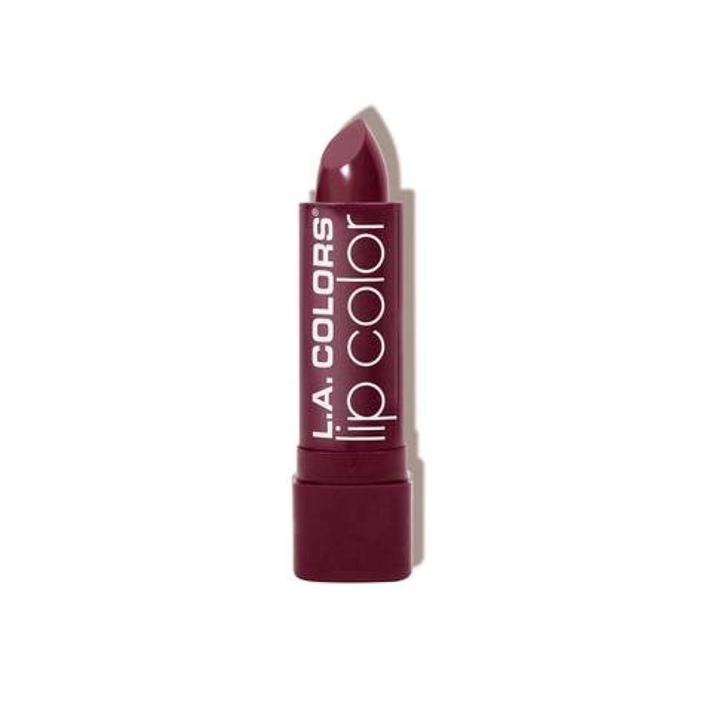 誇り覆すプラットフォーム(6 Pack) L.A. COLORS Moisture Rich Lip Color - Precious Plum (並行輸入品)
