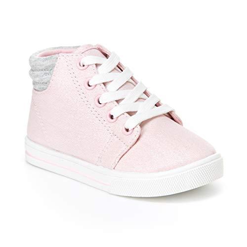 Simple Joys by Carter's Baby Girls' Cora Gliter High-Top Sneaker, Pink, 11 M US Little Kid