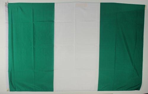 Buddel-Bini Flagge Fahne ca. 90x150 cm : Nigeria Nigeriaflagge Nationalflagge Nationalfahne