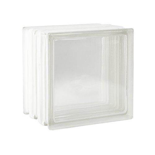 2 Stück FUCHS Glassteine Vollsicht Klar 19x19x15 cm - F60 (Brandschutz)