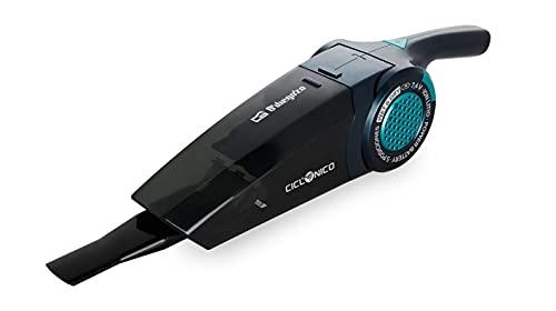 Orbegozo AP 1500 - Aspiradora de mano sin cable, aspira sólidos y líquidos, mango de inclinación variable, sistema de aspiración ciclónico, 2200 mAh, 3 accesorios incluidos